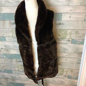 Zara faux fur vest size M